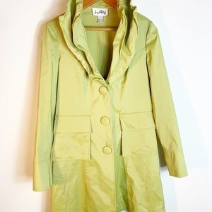 NWOT Joseph Ribkoff ruffled colored rain coat